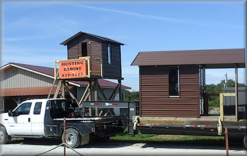 OzarksCabins.com ~ Ozarks Hunting Cabins - Delivery and Installation Services Available for nominal fee.